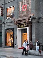 Einkaufstarße QianMen dajie, Peking, China, Asien<br /> Shopping Street QianMen Dajie, Beijing, China, Asia