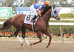 Caixa Eletronica, ridden by Javier Castellano, runs in the Vosburgh Invitational Stakes (GI) at Belmont Park in Elmont, New York on September 29, 2012.  (Bob Mayberger/Eclipse Sportswire)