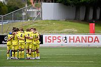 Wellington Phoenix team huddle during the ISPS Handa Men's Premiership - Wellington Phoenix Reserves v Canterbury United at Fraser Park, Wellington on Saturday 9 January 2021.<br /> Copyright photo: Masanori Udagawa /  www.photosport.nz