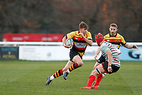 Morgan Ward of Richmond Rugby running with the ball during the English National League match between Richmond and Blackheath  at Richmond Athletic Ground, Richmond, United Kingdom on 4 January 2020. Photo by Carlton Myrie.