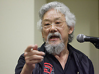 Montreal (QC) CANADA - February 26, 2008- David Suzuki <br /> at a press conference<br /> preceding the launch of the first C-Vert Environment Forum held at YM-YWHA - Jewish Community Centres<br />                5400, Westbury ave.<br />                Montreal.<br /> <br /> Partners of the<br /> project, including Mayor of the Villeray-Saint-Michel-Parc-Extension borough <br /> Ms. Anie Samson and Councillor for Cote-des-Neiges-Notre-Dame-de-Gr'ce<br /> Mr. Marvin Rotrand, will be on hand to mark this event.<br /> <br /> photo : (c) Pierre Roussel -  Images Distribution