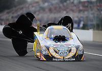 Mar. 11, 2012; Gainesville, FL, USA; NHRA funny car driver Jim Head during the Gatornationals at Auto Plus Raceway at Gainesville. Mandatory Credit: Mark J. Rebilas-
