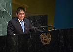 High-level meeting of the General Assembly on the appraisal of the United Nations Global Plan of Action to Combat Trafficking in Persons<br /> H.E. Alexis BETHANCOURT YAU<br /> <br /> Minister for Public Security of<br /> PANAMA