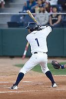 August 6, 2010: Everett AquaSox's Fred Bello at bat during a Northwest League game against the Boise Hawks at Everett Memorial Stadium in Everett, Washington.
