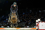 Lorenzo de Luca of Italy riding Unestar de Cerisy competes during the EEM Trophy, part of the Longines Masters of Hong Kong on 10 February 2017 at the Asia World Expo in Hong Kong, China. Photo by Marcio Rodrigo Machado / Power Sport Images