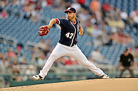 16 May 2012: Washington Nationals pitcher Gio Gonzalez on the mound against the Pittsburgh Pirates at Nationals Park in Washington, DC. The Nationals defeated the Pirates 7-4 in the first game of their 2-game series. Mandatory Credit: Ed Wolfstein Photo