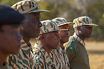 Park scouts in anti-poaching patrol, Kafue National Park, Zambia