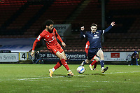 O's Lee Angol scores Orient's 2nd goal and celebrates during Leyton Orient vs Morecambe, Sky Bet EFL League 2 Football at The Breyer Group Stadium on 16th January 2021