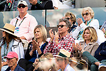 March 14, 2018: Will Ferrell, Comedian, cheers as Roger Federer (SUI) defeated Jeremy Chardy (FRA) 7-5, 6-4 in Wells Tennis Garden in Indian Wells, California. ©Mal Taam/TennisClix/CSM