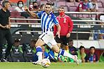 Real Sociedad's Joseba Zaldua during La Liga match. August 15, 2021. (ALTERPHOTOS/Acero)