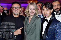 """RedOne, Nadir Khayat, Ksenia Sobchak, Song Yin-Xi<br /> Private music evening with RedOne. The Hotel """"Four Seasons"""". Moscow, Russia - 18 Dec 2020<br /> CAP/PER/EN<br /> ©EN/PER/Capital Pictures"""