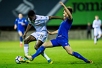 Friday 27 October 2017<br /> Pictured: Jordon Garrick of Swansea in action <br /> Re: Swansea City U23 v Everton U23 Premier League 2 match at the Landore Training facility, Swansea, Wales, UK