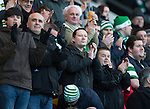 St Johnstone v Celtic.....26.12.13   SPFL<br /> Courier reporter Mark Mackay in with Celtic fans<br /> Picture by Graeme Hart.<br /> Copyright Perthshire Picture Agency<br /> Tel: 01738 623350  Mobile: 07990 594431