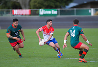 Horowheuna Kapiti's Jack Tatu-Robertson in action during the Heartland Championship and PGG Wrightson Cup rugby match between Horowhenua-Kapiti and Wairarapa Bush at Levin Domain in Levin, New Zealand on Saturday, 8 August 2020. Photo: Dave Lintott / lintottphoto.co.nz