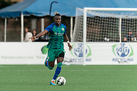 HARTFORD, CT - AUGUST 17: Tulu #15 of Hartford Athletic looks to pass during a game between Charleston Battery and Hartford Athletic at Dillon Stadium on August 17, 2021 in Hartford, Connecticut.
