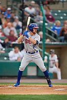 Buffalo Bisons Patrick Kivlehan (14) at bat during an International League game against the Rochester Red Wings on May 31, 2019 at Frontier Field in Rochester, New York.  Rochester defeated Buffalo 5-4 in ten innings.  (Mike Janes/Four Seam Images)