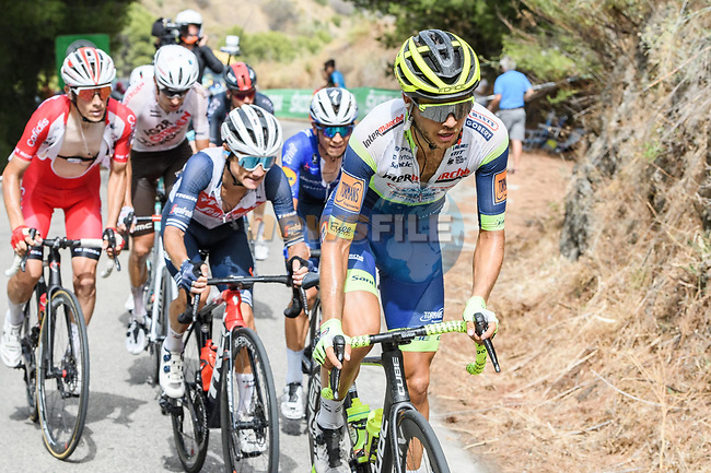 Odd Christian Eiking (NOR) Intermarché-Wanty-Gobert Matériaux in the breakaway during Stage 10 of La Vuelta d'Espana 2021, running 189km from Roquetas de Mar to Rincón de la Victoria, Spain. 24th August 2021.     <br /> Picture: Cxcling | Cyclefile<br /> <br /> All photos usage must carry mandatory copyright credit (© Cyclefile | Cxcling)