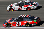 #20: Erik Jones, Joe Gibbs Racing, Toyota Camry Craftsman and #2: Brad Keselowski, Team Penske, Ford Fusion Discount Tire