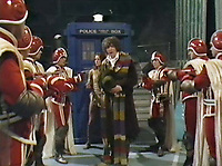 BNPS.co.uk (01202 558833)<br /> Pic: BBC <br /> <br /> Pictured: One of the weapons in use in Dr. Who (Tom Baker) Episode: 'Invasion of Time' (1978).<br /> <br /> Scarce props used in Dr Who that were given to a crew member for his children to play with after filming have emerged for sale.<br /> <br /> The memorabilia that featured in episodes starring Tom Baker as the Doctor in the 1970s includes spage-age weapons, a Tardis control dial and a correction helmet.
