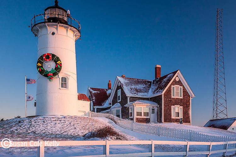 Nobska Lighthouse sunrise, Falmouth, Cape Cod,  MA