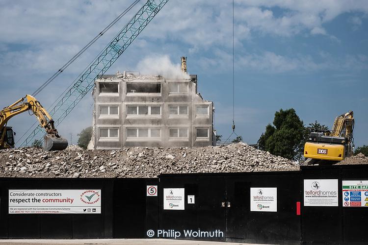 Demolition of  Gloucester House, South Kilburn Estate, London Borough of Brent.