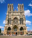 France, Département Marne, Champagne, Reims: Cathedral Notre-Dame de Reims| Frankreich, Département Marne, Champagne, Reims: die Kathedrale Notre-Dame von Reims