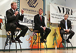 Nevada Republicans, from left, Mark Amodei, Kirk Lippold and Greg Brower debate Wednesday, June 15, 2011, in Reno, Nev., in an effort to become the GOP candidate for the September special election for a vacant U.S. house seat. The 2nd District seat is open after Gov. Brian Sandoval appointed incumbent GOP Rep. Dean Heller to fill the unexpired term of U.S. Sen. John Ensign. .Photo by Cathleen Allison
