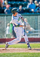 5 September 2016: Vermont Lake Monster outfielder Luke Persico in action against the Lowell Spinners at Centennial Field in Burlington, Vermont. The Lake Monsters defeated the Spinners 9-5 to close out their 2016 NY Penn League season. Mandatory Credit: Ed Wolfstein Photo *** RAW (NEF) Image File Available ***