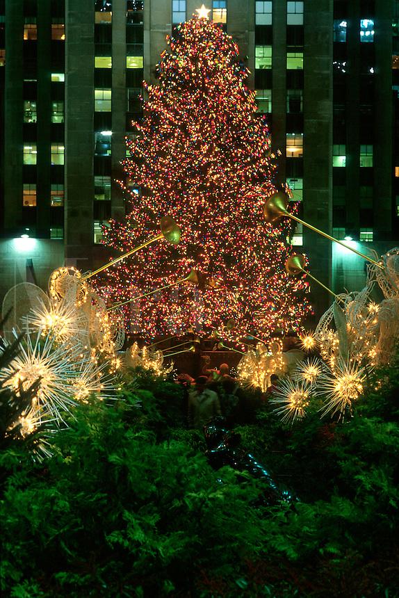"#JP0518 ""Rockefeller Plaza At Christmas - New York NY"