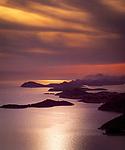 Kroatien, Dalmatien, Dubrovnik und die umliegenden Inseln im Abendlicht | Croatia, Dalmatia, Dubrovnik + its surrounding islands at sunset