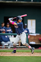 New Hampshire Fisher Cats designated hitter Harold Ramirez (23) at bat during the second game of a doubleheader against the Harrisburg Senators on May 13, 2018 at FNB Field in Harrisburg, Pennsylvania.  Harrisburg defeated New Hampshire 2-1.  (Mike Janes/Four Seam Images)