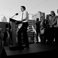 Liberal leader Justin Trudeau announce today, Tuesday September 22, 2015 in Montreal that if elected ; Liberals will invest in Canadian culture.<br /> <br /> <br /> Photo : Pierre Roussel - Agence Quebec Presse