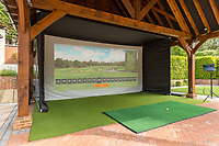 BNPS.co.uk (01202) 558833. <br /> Pic: TailorMade/BNPS<br /> <br /> Pictured: The hi-tech golf simulator included in the sale. <br /> <br /> A multi-millionaire is hoping to have a shot at selling his luxury mansion - by throwing a hi-tech golf simulator into the deal.<br />  <br /> Golf-loving Barry Bester put the waterfront property on Sandbanks, Dorset, on the market for £11m last year.<br />  <br /> He is now offering his £40,000 state-of-the-art simulator he has had built on the grounds with the sale.