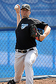 March 29, 2010:  Pitcher Lance Loftin of the Toronto Blue Jays organization during Spring Training at the Englebert Minor League Complex in Dunedin, FL.  Photo By Mike Janes/Four Seam Images