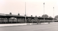 Main stand at the Recreation Ground - Grays Athletic Football Club - 1992 (approx) - MANDATORY CREDIT: Gavin Ellis/TGSPHOTO. Self-Billing applies where appropriate. NO UNPAID USE. Tel: 0845 094 6026
