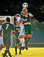 22 September 2008: University of Vermont Catamounts' midfielder Kyle Luetkehans, a Sophomore from LaGrange, IL, in action against the Colgate University Raiders at Centennial Field, in Burlington, Vermont. The Raiders edged out the Catamounts 2-1, handing the Soccer Catamounts their first home loss of the 2008 season. ..Mandatory Photo Credit: Ed Wolfstein Photo