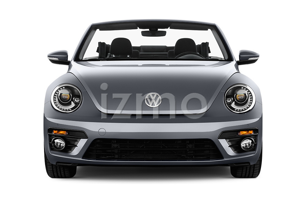 Car photography straight front view of a 2017 Volkswagen Beetle Design 2 Door Convertible Front View