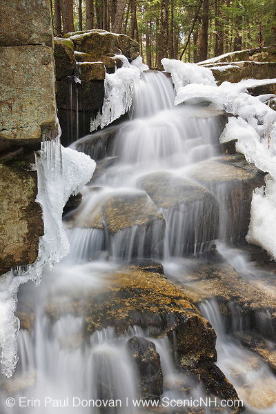 Stair Falls along Bumpus Brook in Randolph, New Hampshire USA during the spring months.