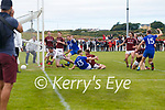 Bryan Sheehans cross into the Dromid goal mouth leaves carnage on the ground but a still standing Tadhg O'Connor#15 makes no mistake as he drives the ball into the back of the Dromid net.