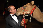 """Chair Mark Grierson with the camel outside the Children's Museum """"Arabian Nights"""" Gala at The Corinthian Saturday  Oct. 14,2006.(Dave Rossman/For the Chronicle)<br />"""