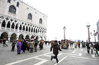 Veduta della Piazzetta San Marco a Venezia, col Palazzo Ducale sulla sinistra.<br /> View on Piazzetta San Marco in Venice, with the Doge's Palace at left.<br /> UPDATE IMAGES PRESS/Riccardo De Luca
