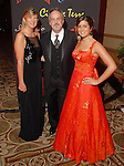 """Glena and Greg Scofelia with their daughter Stephanie at the San Luis Salute to """"The Italian Riviera"""" at the Galveston Island Convention Center at the San Luis Friday  Feb. 20, 2009.(Dave Rossman/For the Chronicle)"""