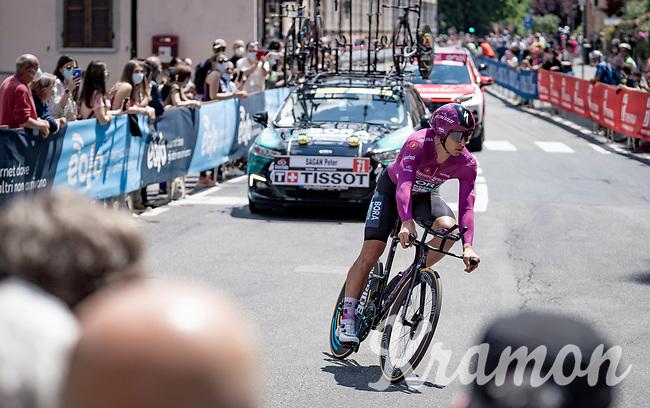 Maglia Ciclamino / Points Leader Peter Sagan (SVK/BORA - hansgrohe)<br /> <br /> 104th Giro d'Italia 2021 (2.UWT)<br /> Stage 21 (final ITT) from Senago to Milan (30.3km)<br /> <br /> ©kramon