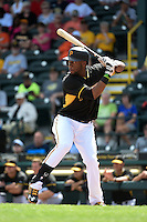 Pittsburgh Pirates outfielder Mel Rojas Jr. (81) during the Black & Gold intrasquad game on March 2, 2015 at McKechnie Field in Bradenton, Florida.  (Mike Janes/Four Seam Images)
