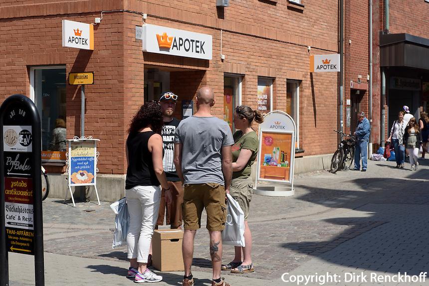 Einkaufsstraße Lilla Östergatan, Ystad, Provinz Skåne (Schonen), Schweden, Europa<br /> shopping street Lilla Östergatan Stortorget  in Ystad, Sweden