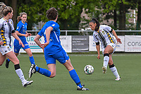 Jessica Silva Valdebenito (18) of Sporting Charleroi pictured during a female soccer game between Sporting Charleroi and Eendracht Aalst on the 8th matchday in play off 2 of the 2020 - 2021 season of Belgian Scooore Womens Super League , tuesday 18 th of May 2021 in Marcinelle , Belgium . PHOTO SPORTPIX.BE | SPP | STIJN AUDOOREN