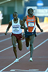 12 JUNE 2015: Anthony Rotich of UTEP celebrates as he crosses the finish line to win the NCAA Championship in the Men's 3000 meter Steeplechase during the Division I Men's and Women's Outdoor Track & Field Championship held at Hayward Field in Eugene, OR. Rotich won the event in a time of 8:33.90 Steve Dykes/ NCAA Photos
