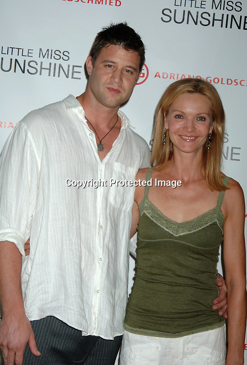 """Josh Stolz and Joan Allen..at The New York Premiere of """"Little Miss Sunshine"""" starring ..Greg Kinnear, Toni Collette and Abigail Breslin on July 25, 2006 at The AMC LoewsLincoln Theatre. ..Robin Platzer, Twin Images"""