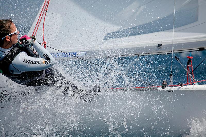 ISAF Sailing World Cup Hyères - Fédération Française de Voile. 470 Women, Maelen Lemaitre, Aloise Retornaz.