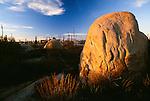 Rock formations at sunset, Catavina Desert, Baja del Norte, Mexico